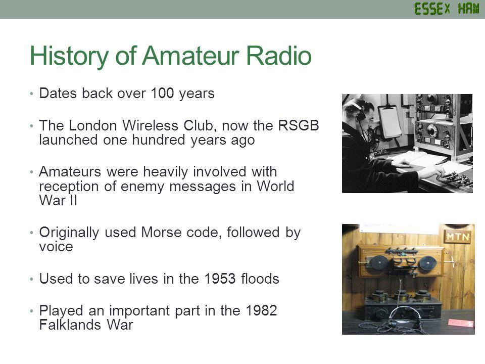 History of amateur radio girls pictures