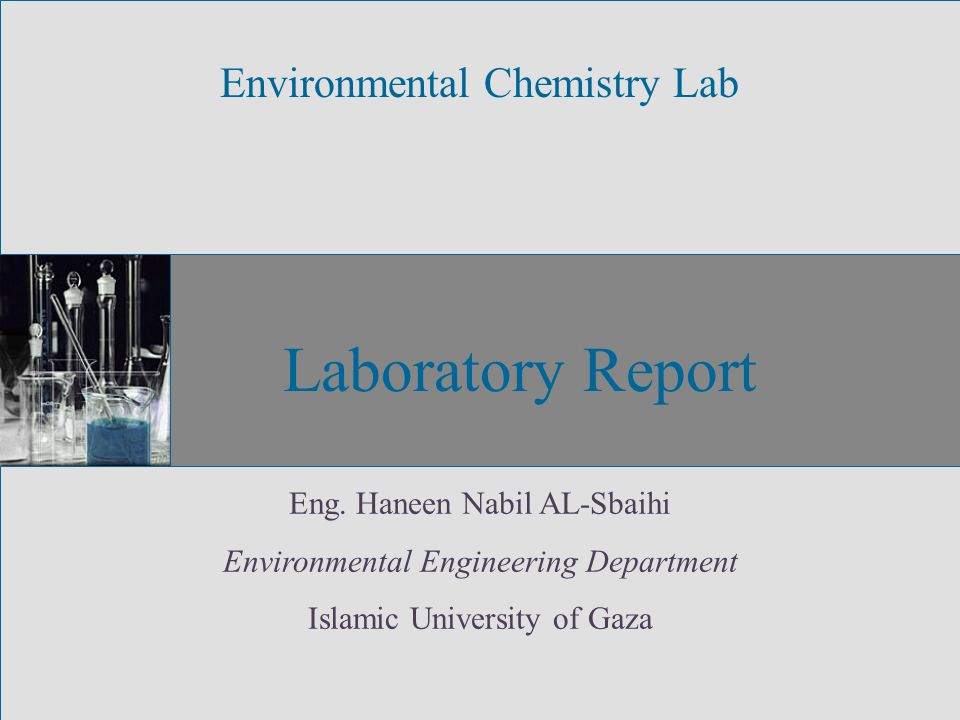 Laboratory Report Environmental Chemistry Lab Eng.