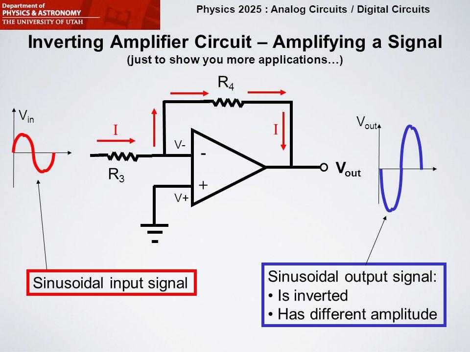 physics 2025 analog circuits digital circuits purpose of this12 physics 2025 analog circuits digital circuits inverting amplifier circuit \u2013 amplifying a signal (just to show you more applications\u2026