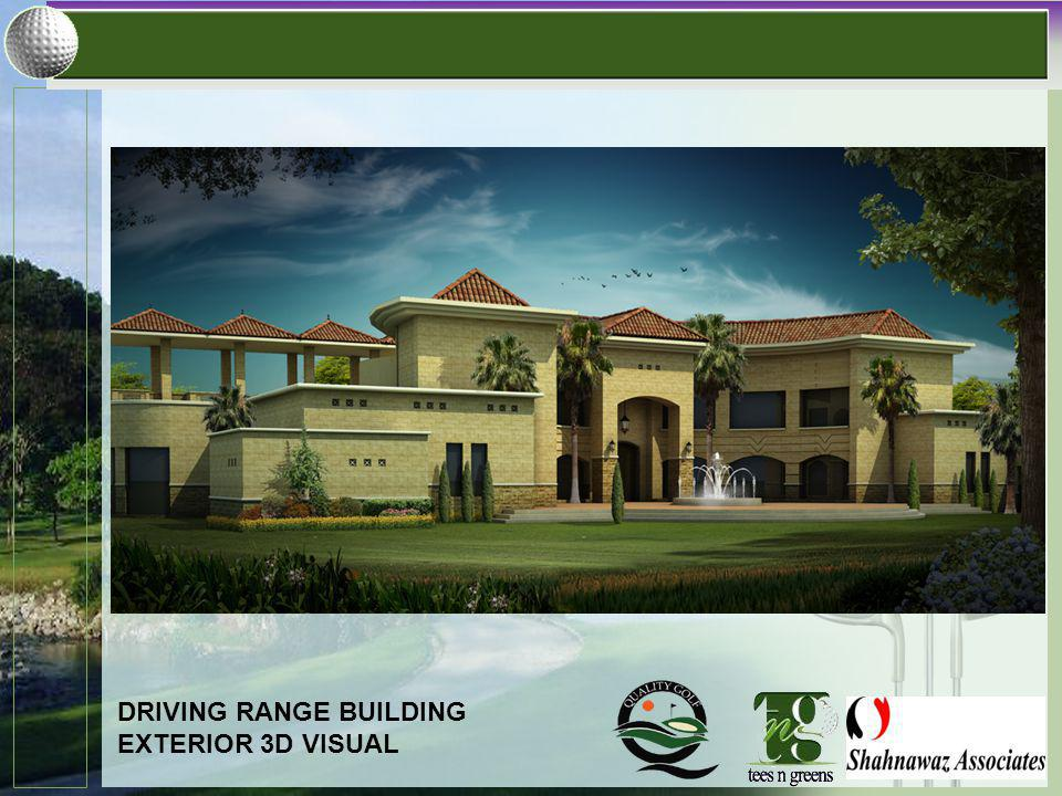 DRIVING RANGE BUILDING EXTERIOR 3D VISUAL
