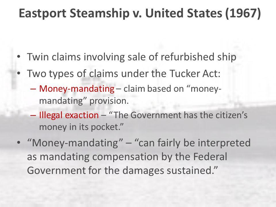 Tucker act money mandating