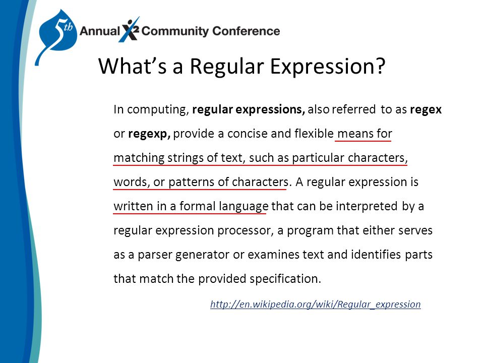 Whats a Regular Expression.