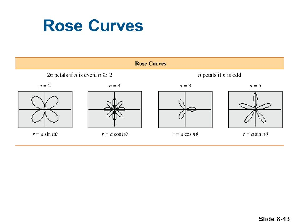 Slide 8-43 Rose Curves