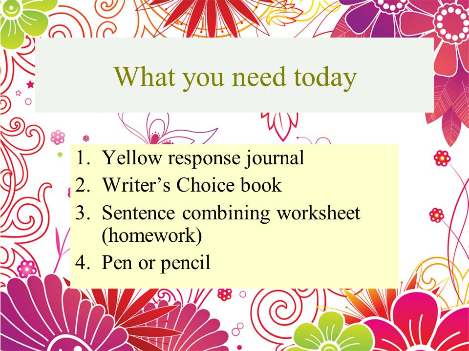 What You Need Today 1llow Response Journal 2writers Choice Book