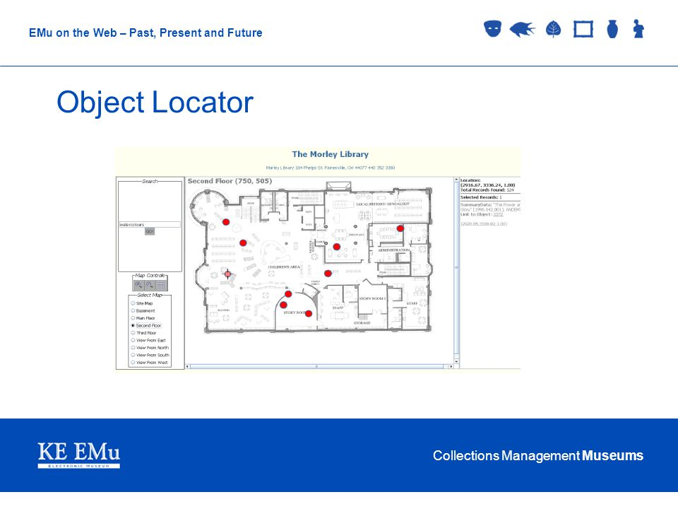 Collections Management Museums EMu on the Web – Past, Present and Future Object Locator