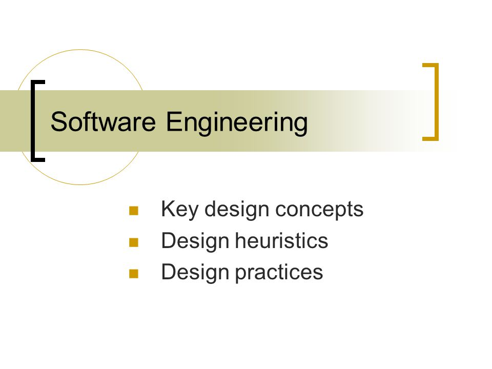 Software Engineering Key Design Concepts Design Heuristics Design Practices Ppt Download