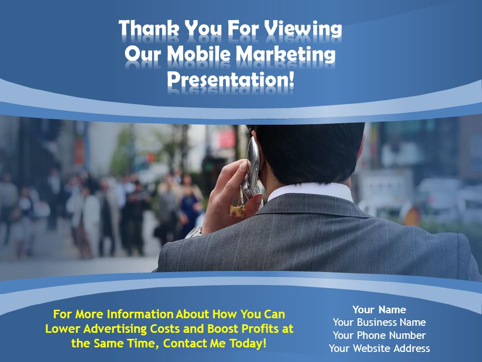 For More Information About How You Can Lower Advertising Costs and Boost Profits at the Same Time, Contact Me Today.