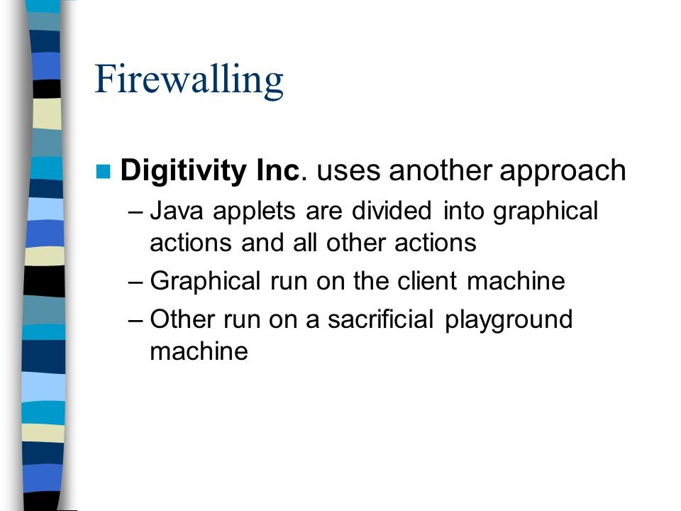 Firewalling Digitivity Inc.