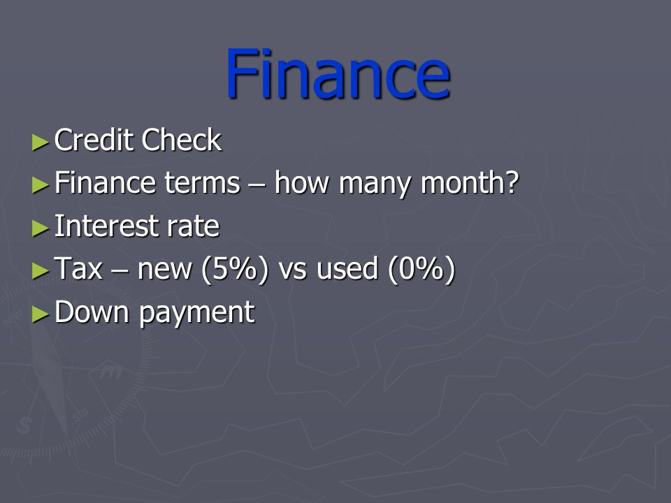 Finance Credit Check Credit Check Finance terms – how many month.