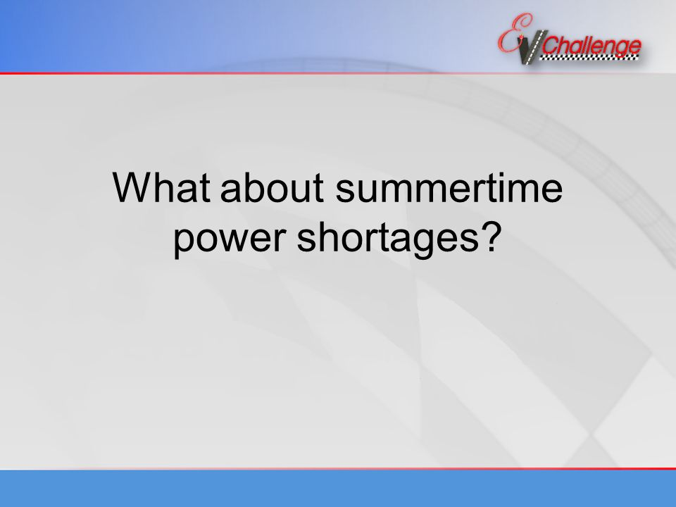 What about summertime power shortages