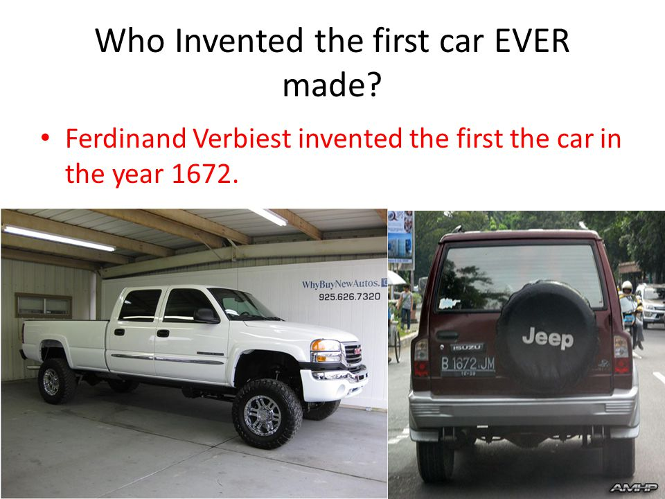 The First car EVER By: Miracle Kelly. What is a car? A car is like a ...