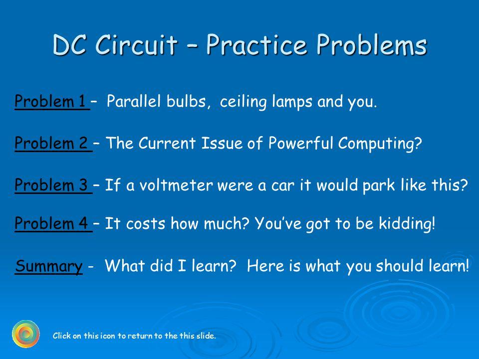 DC Circuit Practice Problems Problem 1 Problem 1