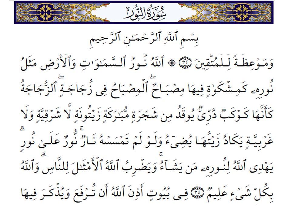 Verse 35 Class notes 024-Surah An Nur  Verse 35  Our