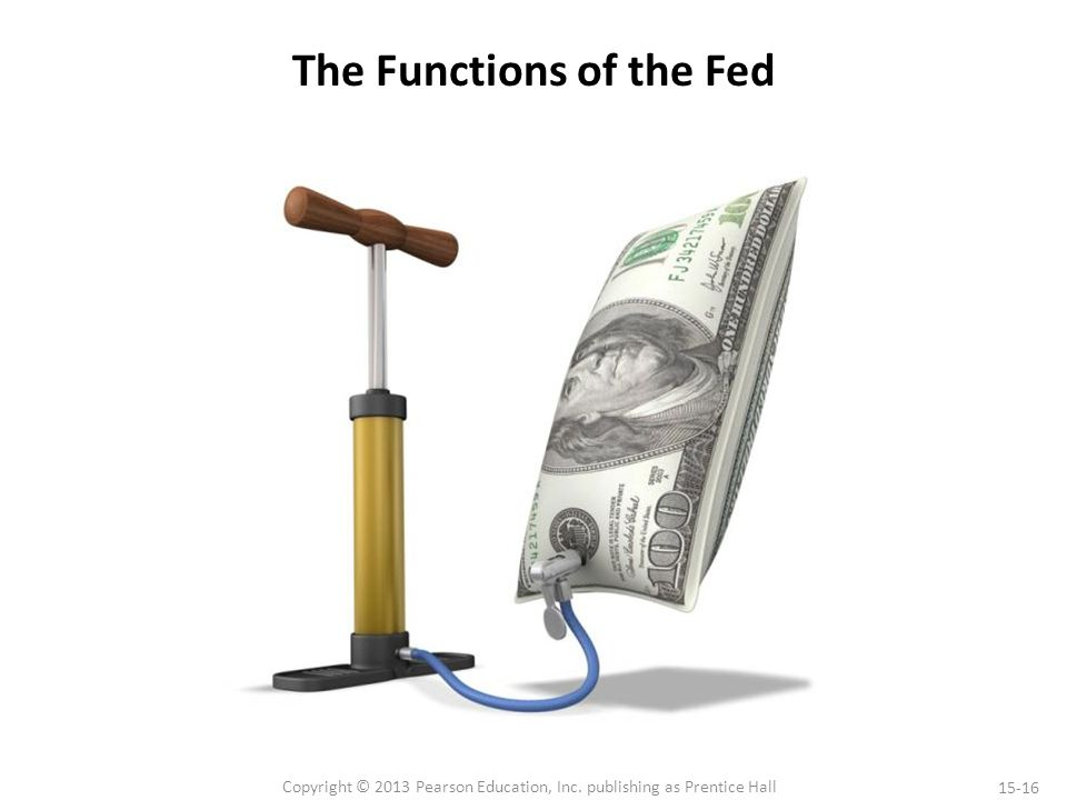 15-16 Copyright © 2013 Pearson Education, Inc. publishing as Prentice Hall The Functions of the Fed