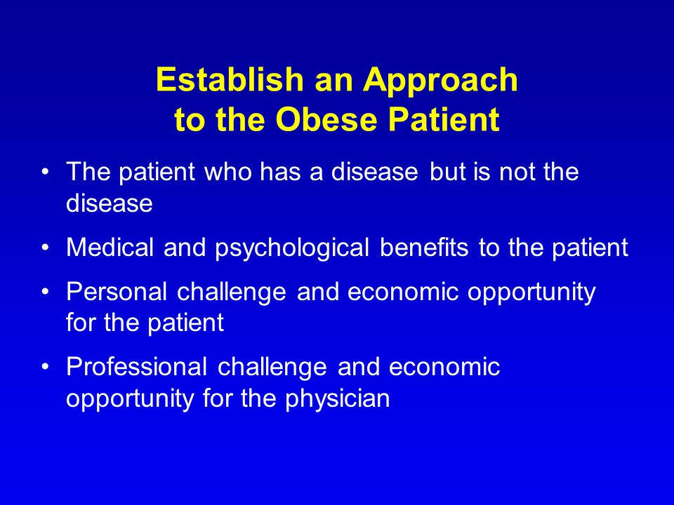 Obesity practice considerations establish an approach to the obese 2 establish fandeluxe Choice Image