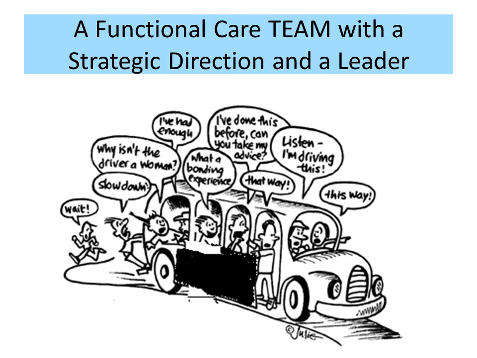 A Functional Care TEAM with a Strategic Direction and a Leader
