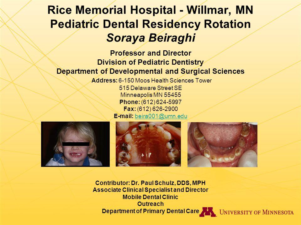 Rice Memorial Hospital - Willmar, MN Pediatric Dental