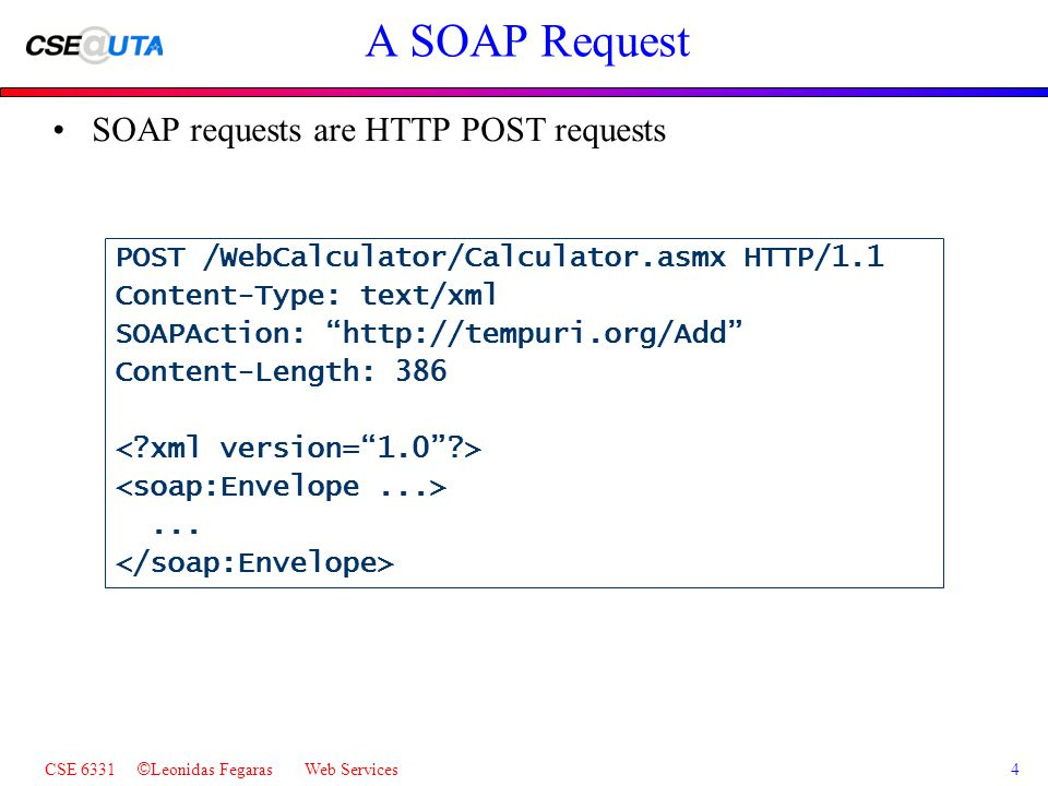 CSE 6331 © Leonidas Fegaras Web Services1 Web Services