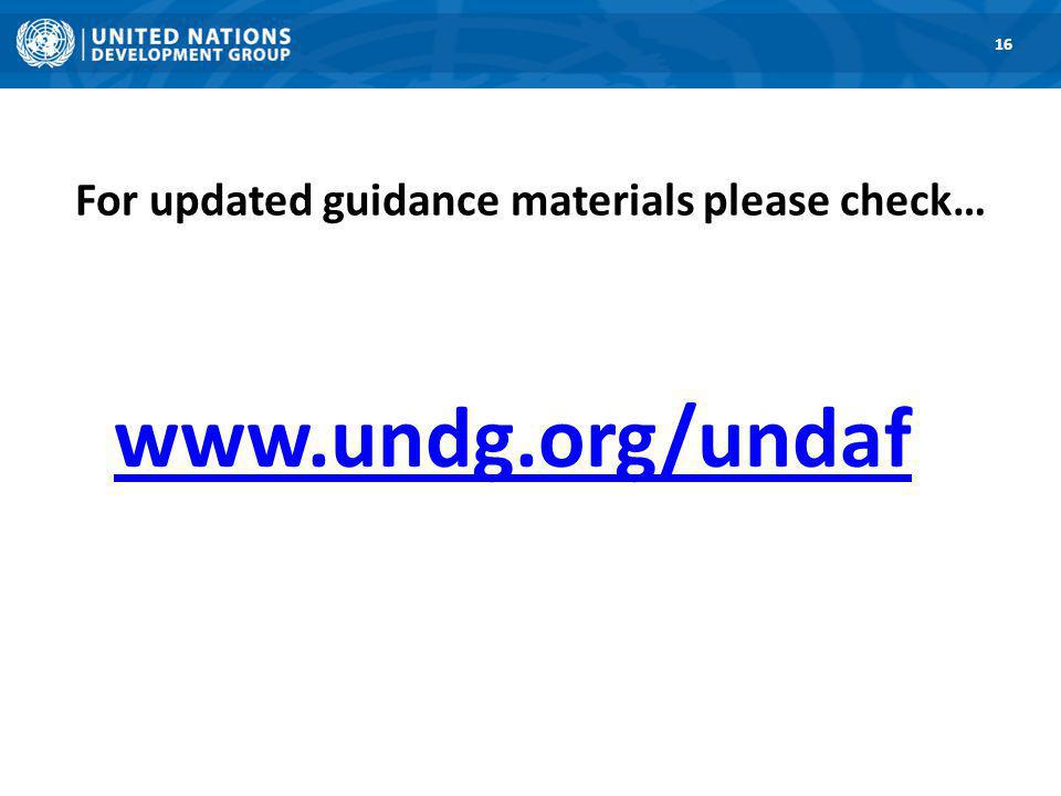 For updated guidance materials please check… 16