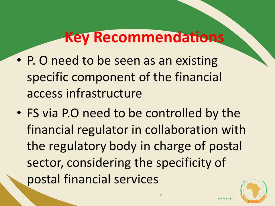 Key Recommendations P.