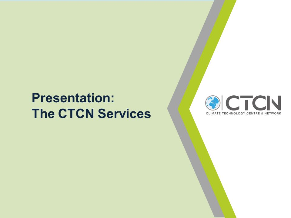 Presentation: The CTCN Services