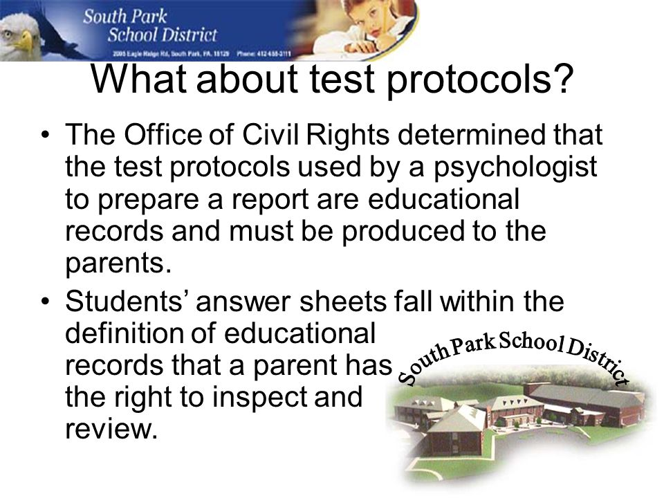 What about test protocols.