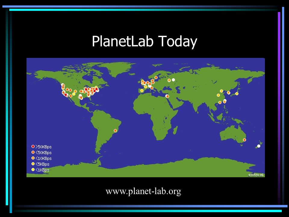 PlanetLab Today