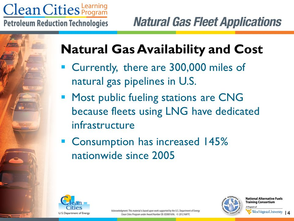 14 Currently, there are 300,000 miles of natural gas pipelines in U.S.