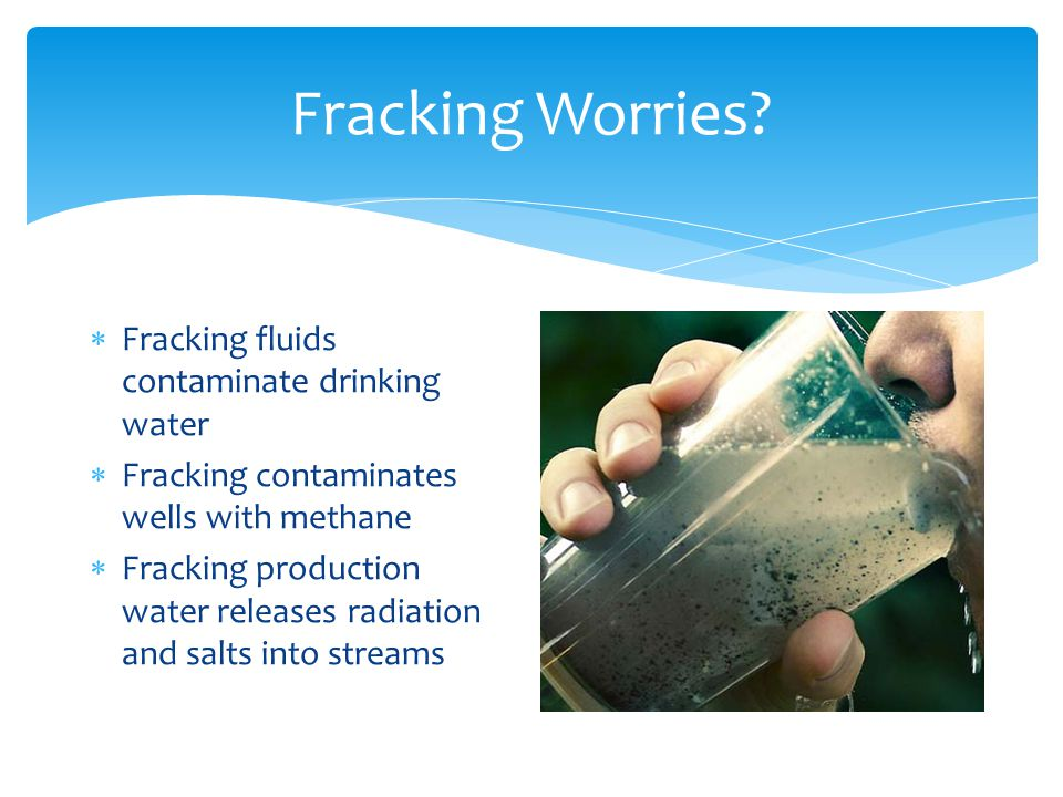 Fracking Worries.
