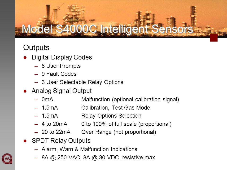 for Combustible Gas Detection S4000C Intelligent Sensors