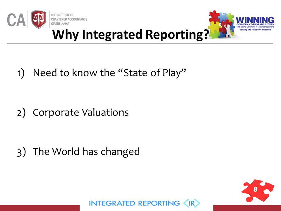 8 Why Integrated Reporting.