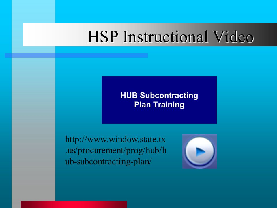 HSP Instructional Video   ub-subcontracting-plan/
