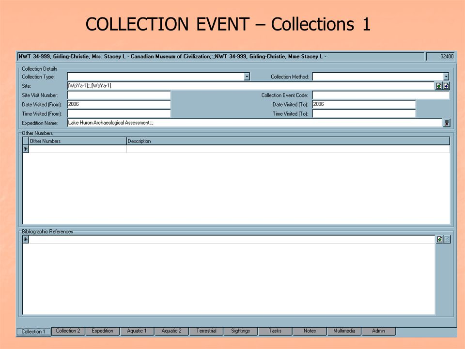 COLLECTION EVENT – Collections 1