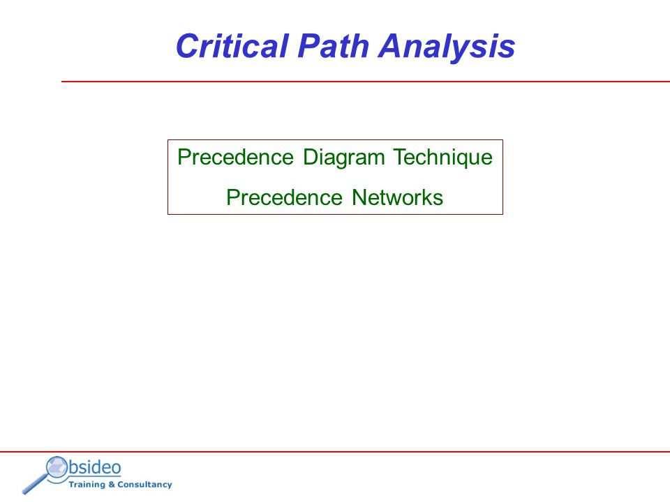 Precedence diagram network analysis diy enthusiasts wiring diagrams precedence diagram technique precedence networks critical path rh slideplayer com example network diagram network precedence diagram calculations ccuart Image collections