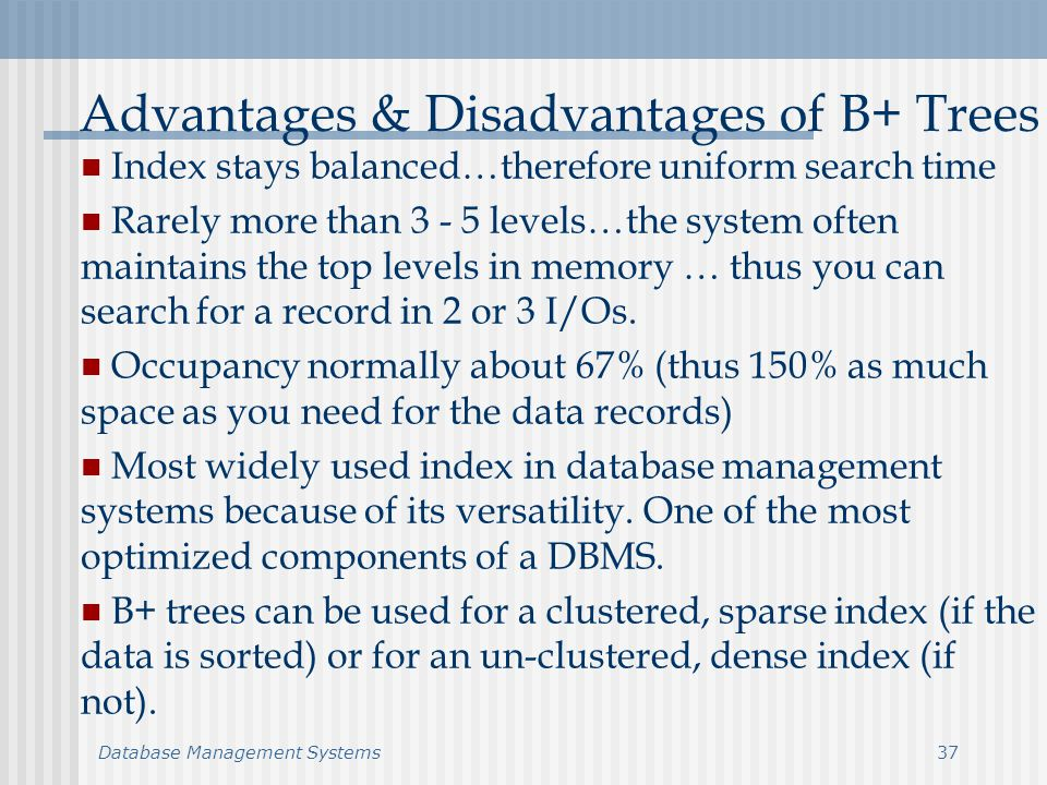COURSE 9 Tree Structured Files. Database Management Systems2 Binary Tree Organization K Data Pointer Left Pointer Right Heap and sorted files - useful. - ppt download - 웹