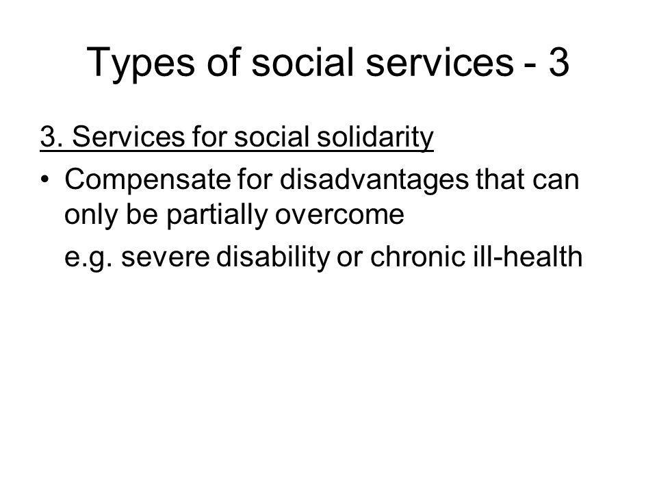 Types of social services