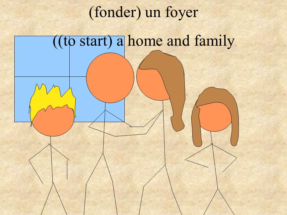 (fonder) un foyer ((to start) a home and family