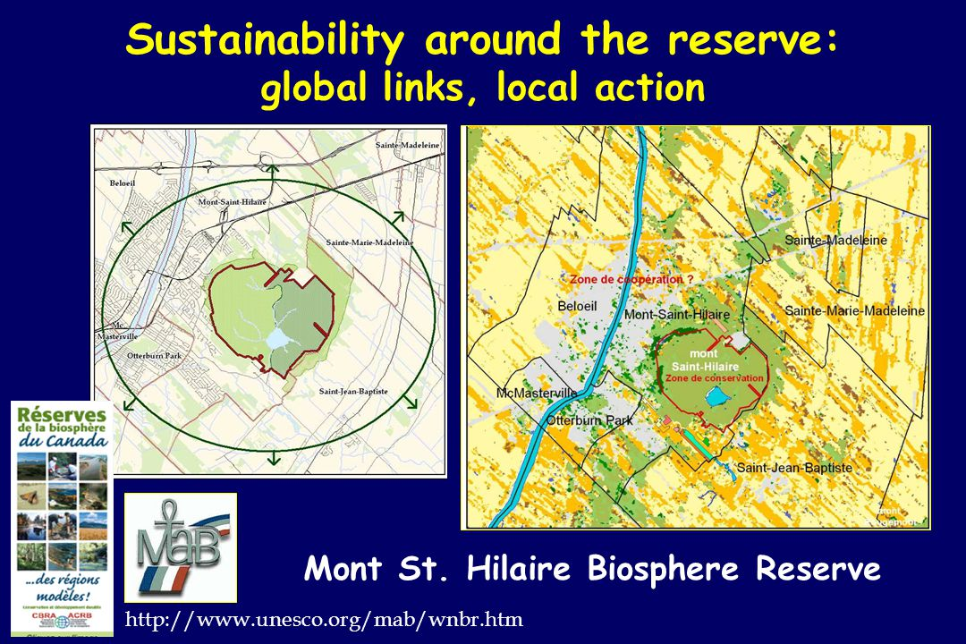 Sustainability around the reserve: global links, local action Mont St.