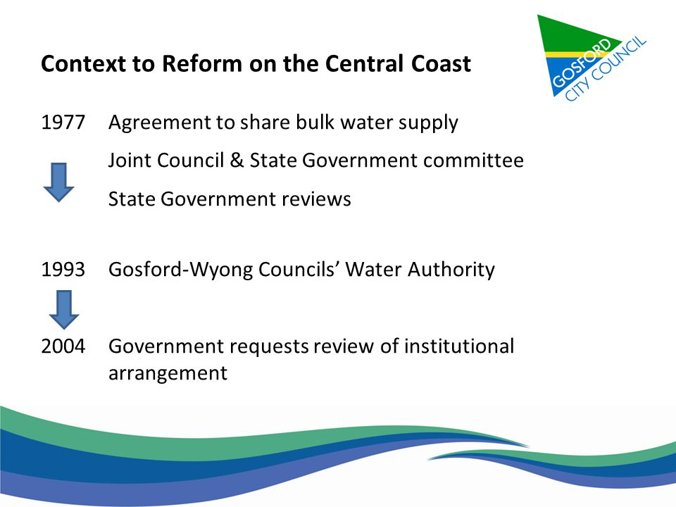 An Update On The Central Coast Water Corporation Ppt Download