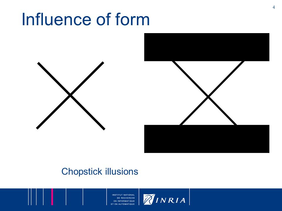 4 Influence of form Chopstick illusions