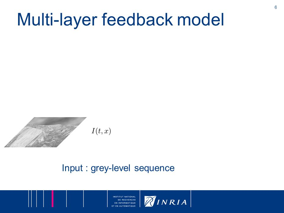 6 Multi-layer feedback model Input : grey-level sequence