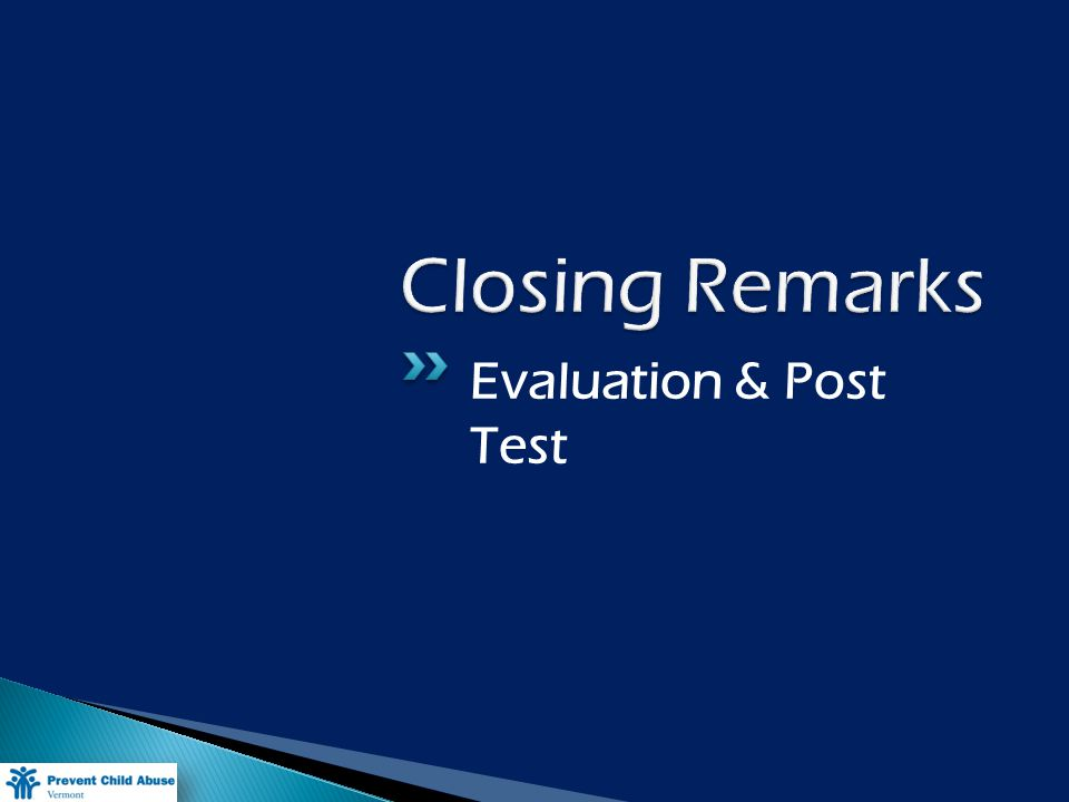 Evaluation & Post Test