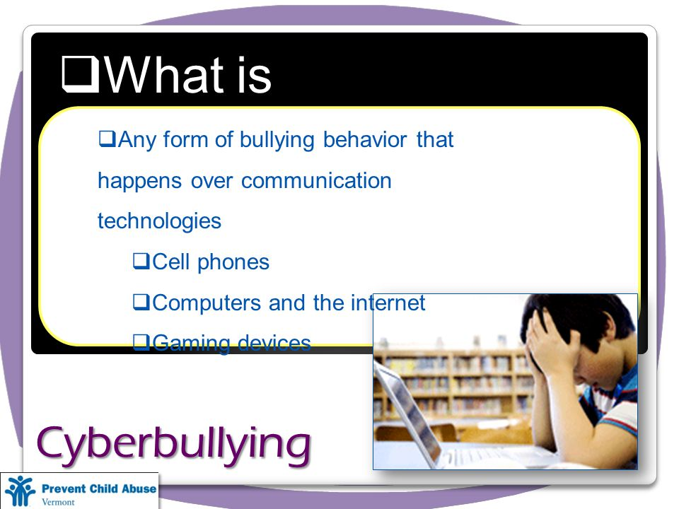 What is Cyberbullying.
