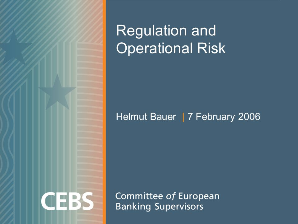 Regulation and Operational Risk Helmut Bauer | 7 February 2006