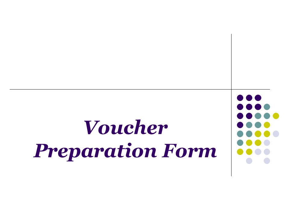 Voucher Preparation Form