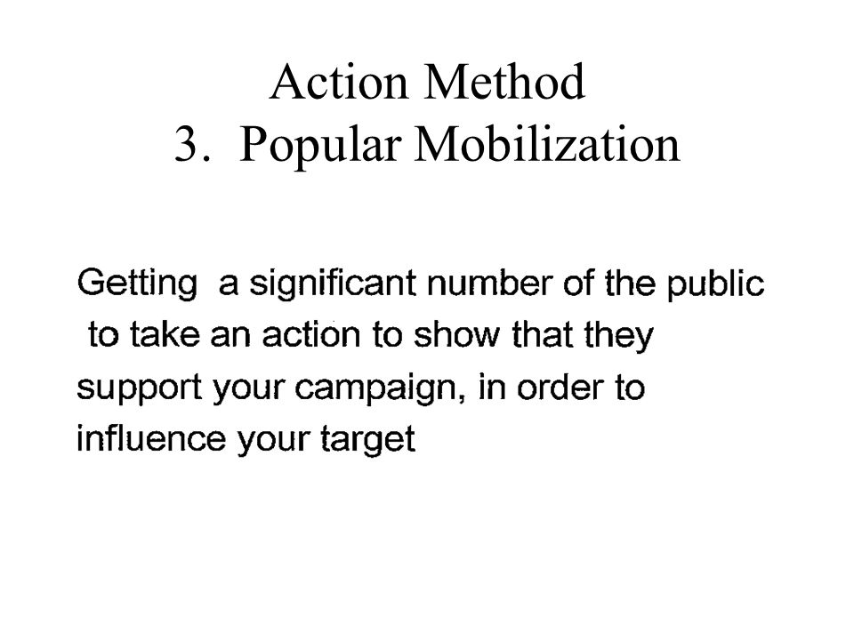Action Method 3. Popular Mobilization
