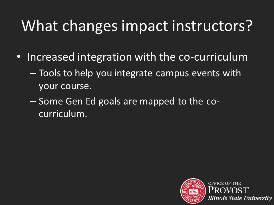 Increased integration with the co-curriculum – Tools to help you integrate campus events with your course.