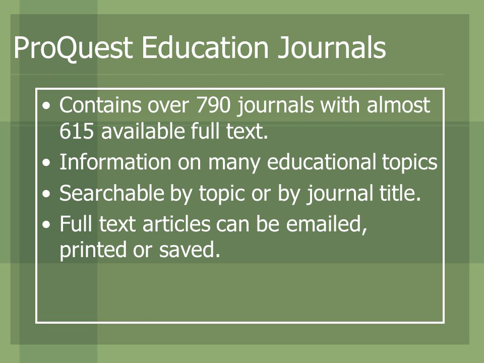 Contains over 790 journals with almost 615 available full text.