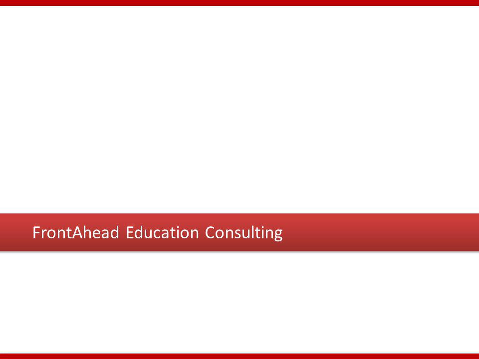 FrontAhead Education Consulting