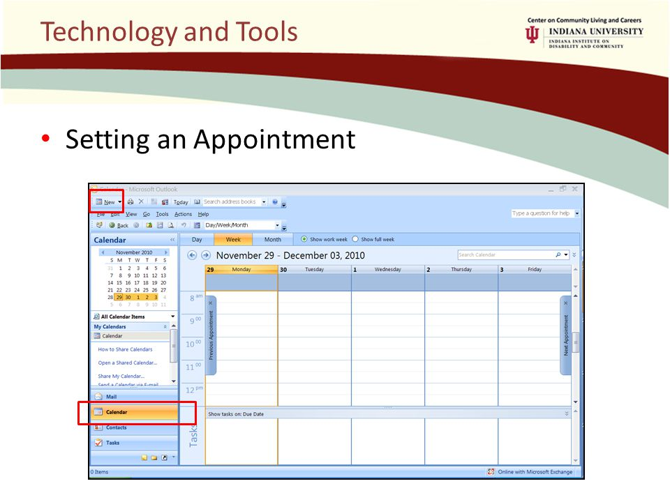 Technology and Tools Setting an Appointment